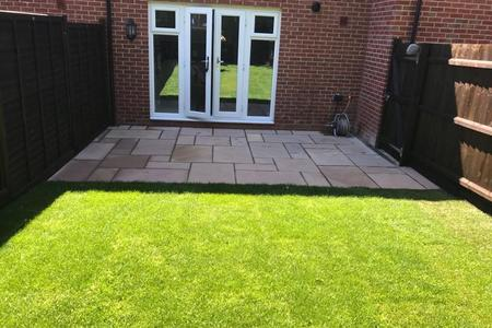 Patio and turfing project